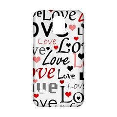 Love pattern - red Samsung Galaxy S5 Hardshell Case