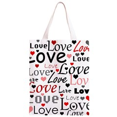 Love pattern - red Classic Light Tote Bag