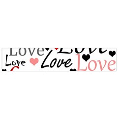 Love pattern - red Flano Scarf (Small)