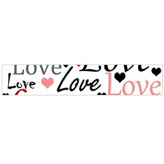 Love pattern - red Flano Scarf (Large)