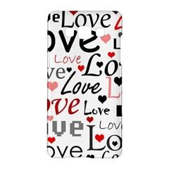 Love pattern - red Samsung Galaxy A5 Hardshell Case