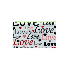 Love pattern - red Cosmetic Bag (XS)