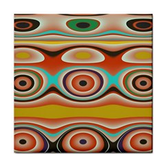 Oval Circle Patterns Tile Coasters