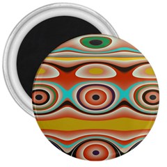 Oval Circle Patterns 3  Magnets