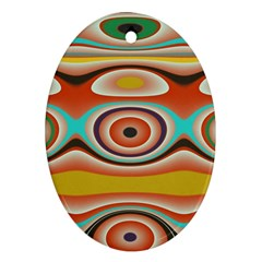 Oval Circle Patterns Ornament (Oval)