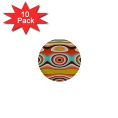 Oval Circle Patterns 1  Mini Buttons (10 pack)
