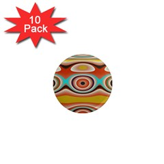 Oval Circle Patterns 1  Mini Magnet (10 pack)