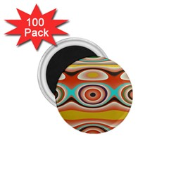 Oval Circle Patterns 1.75  Magnets (100 pack)