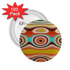 Oval Circle Patterns 2.25  Buttons (100 pack)