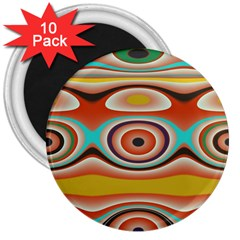 Oval Circle Patterns 3  Magnets (10 pack)