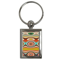 Oval Circle Patterns Key Chains (Rectangle)