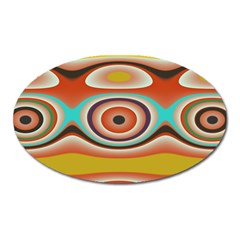 Oval Circle Patterns Oval Magnet
