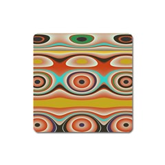 Oval Circle Patterns Square Magnet