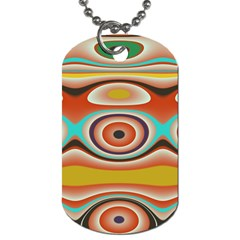 Oval Circle Patterns Dog Tag (One Side)