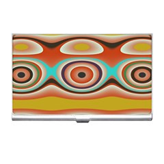 Oval Circle Patterns Business Card Holders