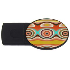 Oval Circle Patterns USB Flash Drive Oval (2 GB)