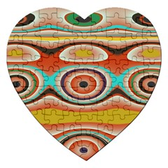 Oval Circle Patterns Jigsaw Puzzle (heart)