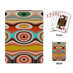 Oval Circle Patterns Playing Card