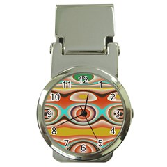 Oval Circle Patterns Money Clip Watches