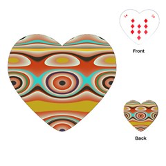 Oval Circle Patterns Playing Cards (heart)