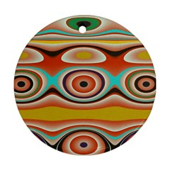 Oval Circle Patterns Round Ornament (Two Sides)