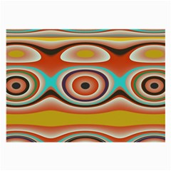 Oval Circle Patterns Large Glasses Cloth