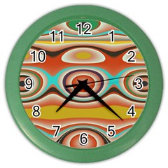 Oval Circle Patterns Color Wall Clocks