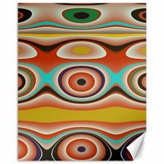 Oval Circle Patterns Canvas 11  x 14