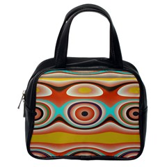 Oval Circle Patterns Classic Handbags (One Side)