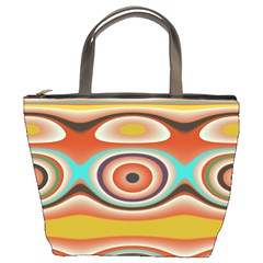 Oval Circle Patterns Bucket Bags