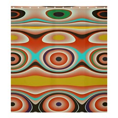 Oval Circle Patterns Shower Curtain 66  x 72  (Large)