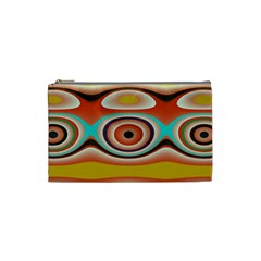 Oval Circle Patterns Cosmetic Bag (Small)