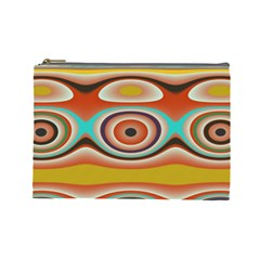 Oval Circle Patterns Cosmetic Bag (Large)