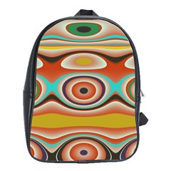 Oval Circle Patterns School Bags(Large)
