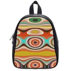 Oval Circle Patterns School Bags (Small)