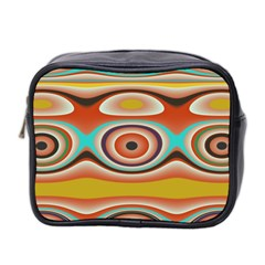 Oval Circle Patterns Mini Toiletries Bag 2-Side
