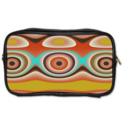 Oval Circle Patterns Toiletries Bags 2-Side
