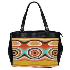 Oval Circle Patterns Office Handbags (2 Sides)