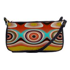 Oval Circle Patterns Shoulder Clutch Bags