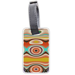 Oval Circle Patterns Luggage Tags (two Sides)