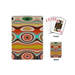Oval Circle Patterns Playing Cards (Mini)