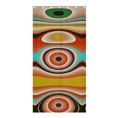 Oval Circle Patterns Shower Curtain 36  x 72  (Stall)