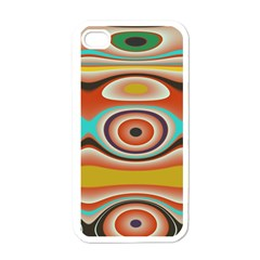 Oval Circle Patterns Apple iPhone 4 Case (White)