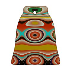 Oval Circle Patterns Bell Ornament (2 Sides)