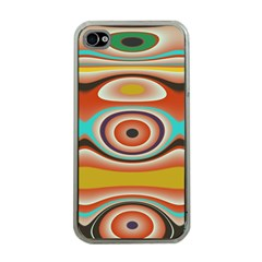 Oval Circle Patterns Apple iPhone 4 Case (Clear)