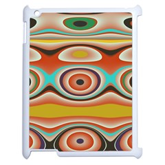 Oval Circle Patterns Apple iPad 2 Case (White)