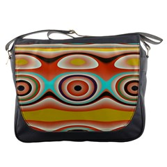 Oval Circle Patterns Messenger Bags