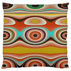 Oval Circle Patterns Large Cushion Case (One Side)