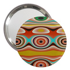 Oval Circle Patterns 3  Handbag Mirrors