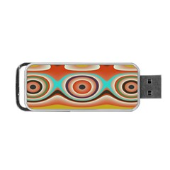 Oval Circle Patterns Portable USB Flash (One Side)